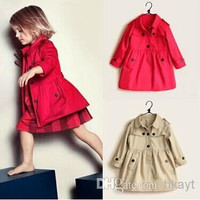 Children's Coat Girls Autumn New Fashion Windbreaker jacket Coat Children's Outwear Kids Clothing.