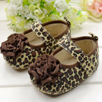 Tiny Baby Shoes | Leopard Ballerina