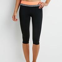Colorblock Yoga Capri Leggings