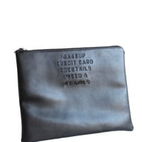 Weed & My Girls Vegan Leather Clutch