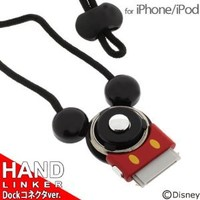 Disney Mickey Mouse Hand Linker Neck Strap for iPhone and iPod
