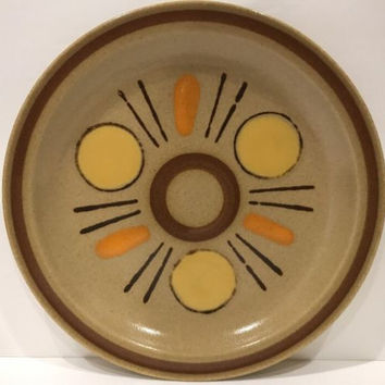 Colorstone Interplay Stoneware Mid-Century 4 Salad Plate Geometric Pattern Japan