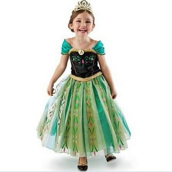 Toddler Girl Dresses Children Girl Summer Fashion 2017 Summer Party Wedding Princess Cosplay Belle Dress Costume Little Maven