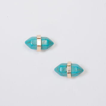 Marble Stone Stud Earrings