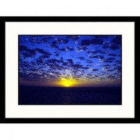 Great American Picture Sunset at Sea Framed Photograph - IS930172 - All Wall Art - Wall Art & Coverings - Decor