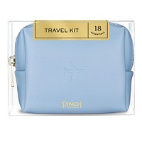 Airplane Embossed Periwinkle Travel Kit