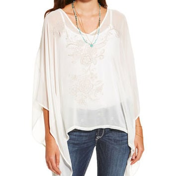 Ariat Women's White Taos Top