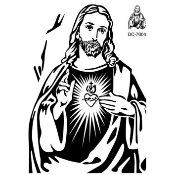 Christian Character Jesus Wall Stickers Crossing Fingers Wall Decals Home Decor