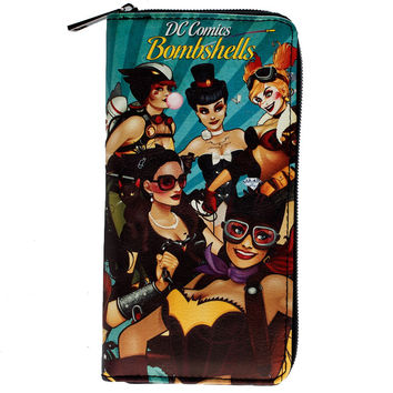 DC Comics Bombshells Large Zip Around Wallet