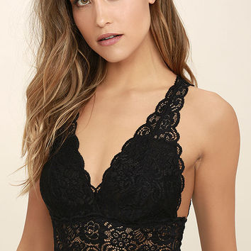 It Was All a Dream Black Lace Bralette