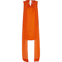 River Island Womens Orange cape layer shift dress