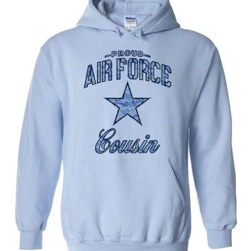 Proud Air Force Cousin Hoodie (Camo)