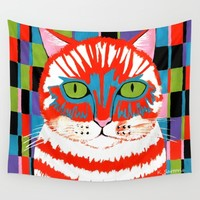 Bad Cattitude Wall Tapestry by Kathleen Sartoris