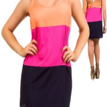 Racerback Block Dress