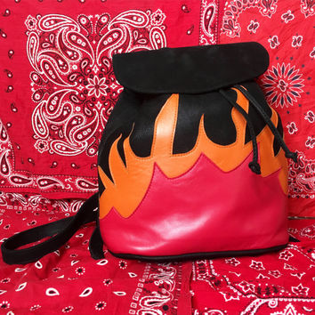 American Vintage Back on Fire backpack