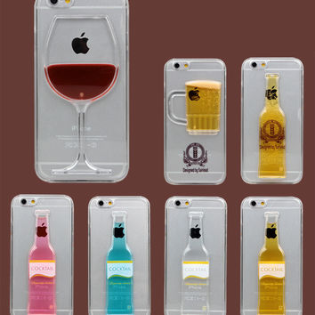 Liquid Hour Glass Transparent Case For iPhone