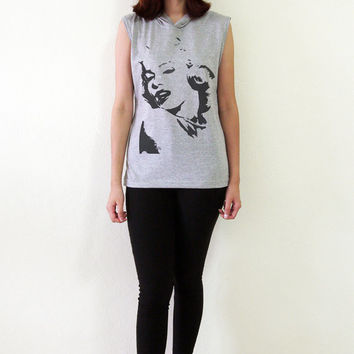 Marilyn Monroe Shirt T-Shirt Tank Top Hipster Sleeveless Hoodies Vest Women T Shirt Size S M L