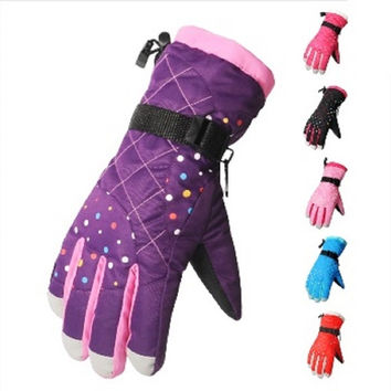 Water Repellent Thermal Women Girls Winter Ski Gloves Snowboard Snowmobile Motorcycle Cycling Outdoor Sports Gloves 5 Colors = 1958024836