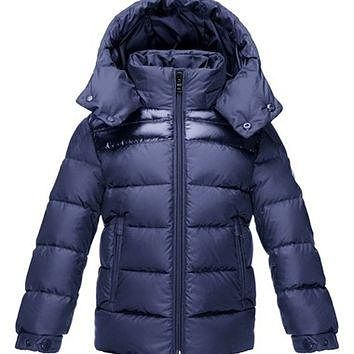 Boy's Moncler 'Louka' Quilted Hooded Jacket,