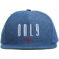 Continental Snapback Hat Denim