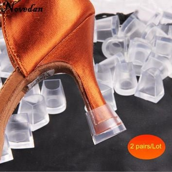 2 Pairs High Heel Protectors Latin Stiletto Dancing Covers Heel Stoppers Antislip Silicone High Heeler For Women Wedding Shoes