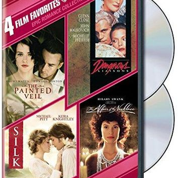 4 Film Favorites - Epic Romances: (Affair of the Necklace / Dangerous Liaisons / Painted Veil / Silk)