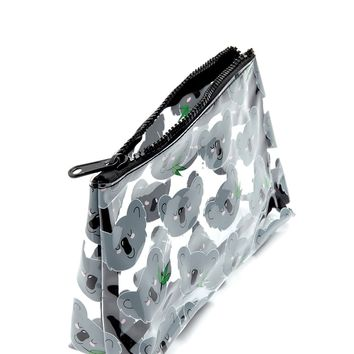 Koala Bear Graphic Makeup Bag