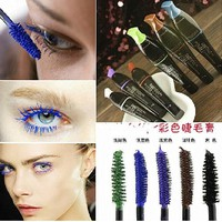 New Waterproof Mascara Charm Curling Eyelash Extension Makeup Cosmetic Charming Mascara 4 Color For Black Mascara Blue
