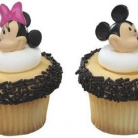 Mickey Mouse and Minnie Mouse Cupcake Rings Toppers:Amazon:Everything Else