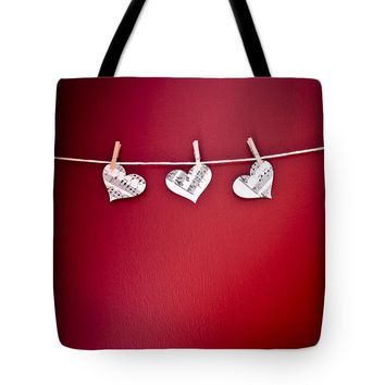 "Three Hearts Tote Bag for Sale by Jan Bickerton (18"" x 18"")"
