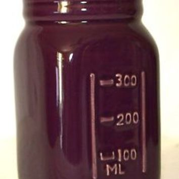 Ashland Ceramic Mason Style Jar Purple NEW Painted Jar Decor