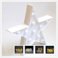 3D Star Cloud Moon Night Light Party Props LED Light Table Desk Light Lamps Indoor Kids Room Bedroom Home Wedding Decoration