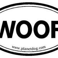 Planet Dog WOOF Sticker
