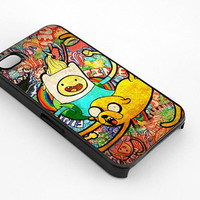 Cartoon Network Adventure Time Finn N Jake for iphone 4/4s case, iphone 5/5s/5c case, samsung s3/s4 case cover