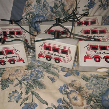 Vintage Blow Mold Keep Camping Party String Lights RV Camper Patio One String fun Lights Hippie lights