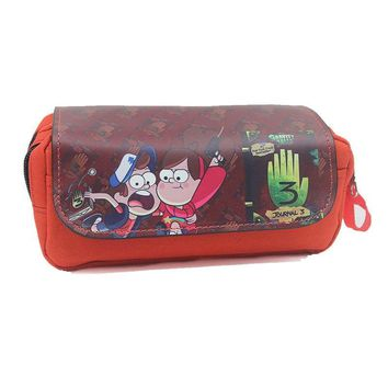 Cartoon Double Layer Multifunctional Purse Pencil Bag X-Men Deadpool Iron Man Superman Batman Purse Zipper Purse