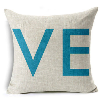 Valentine's Day Gift Cushion Cover You are My Sunshine Throw Pillow Her and His Side LOVE Home Decorative Pillow Cover