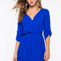 Khloe Surplice A-Line Dress