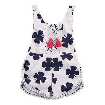 Newborn Baby Girl Clothes Cotton Infant Clothes baby Romper Backless Summer Jumpsuit Sleeveless Kids Girl Sunsuit 0-4T