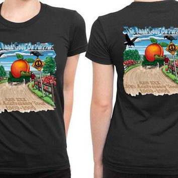DCCKL83 Allman Brothers Band Th Anniversary Tour 2 Sided Womens T Shirt