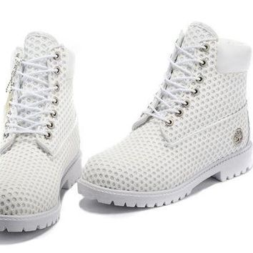 men Timberland Icon 6-inch Premium With White Outsole White Boots
