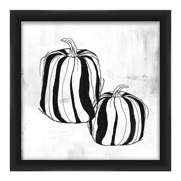 PTM Images White & Black Pumpkins Framed Giclée Print | zulily