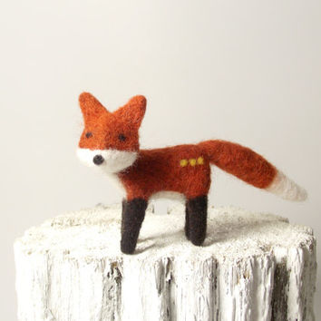 Cute fox, Needle Felted Fox Soft Sulpture Collectable