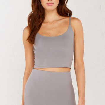 Sleeveless Crop Top in Toffee