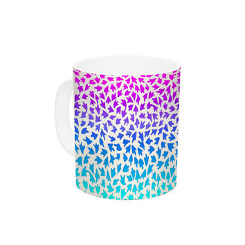 "Sreetama Ray ""Ombre Arrows"" Blue Pink Ceramic Coffee Mug"