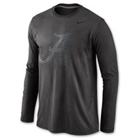 Men's Nike Alabama Crimson Tide College Stealth Long Sleeve Tri-Blend T-Shirt