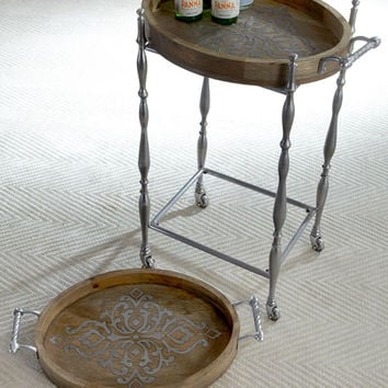 G G Collection Heritage Bar Cart