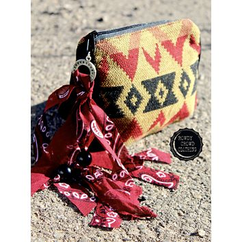 Bandana Babe Cosmetic Bag by Rowdy Crowd
