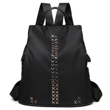 Summer Korean Backpack Rivet Travel Bags [4982889476]