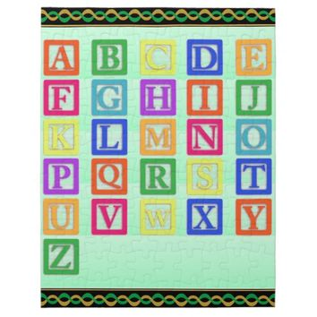Block Letters Jigsaw Puzzle